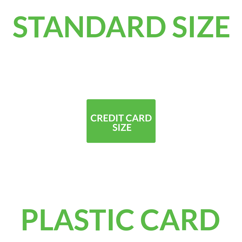 0001 Standard Plastic Card<br>85.5 x 54mm