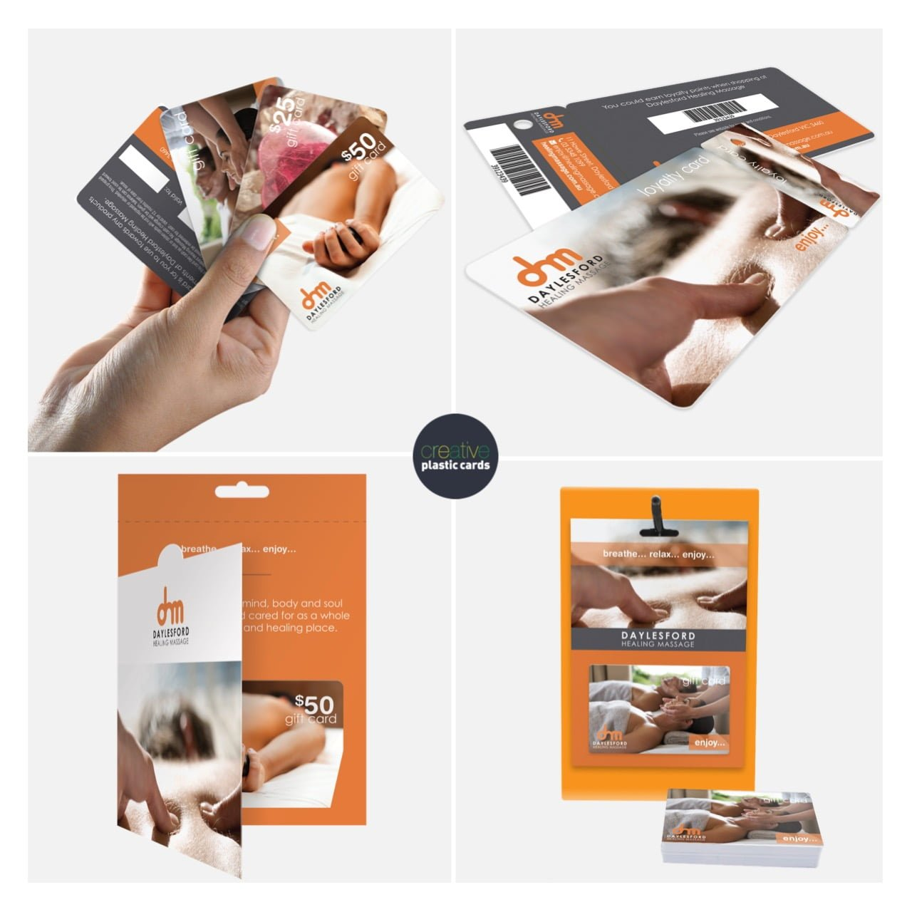 Daylesford Healing Massage - Plastic & Paper Printing Product Collage