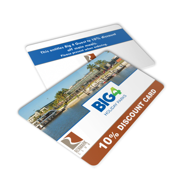 Plastic 10% Discount Card - Big4 Holiday Parks