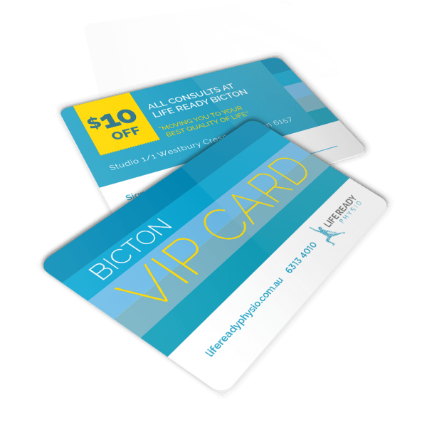 Plastic VIP Cards - Life Ready Physio